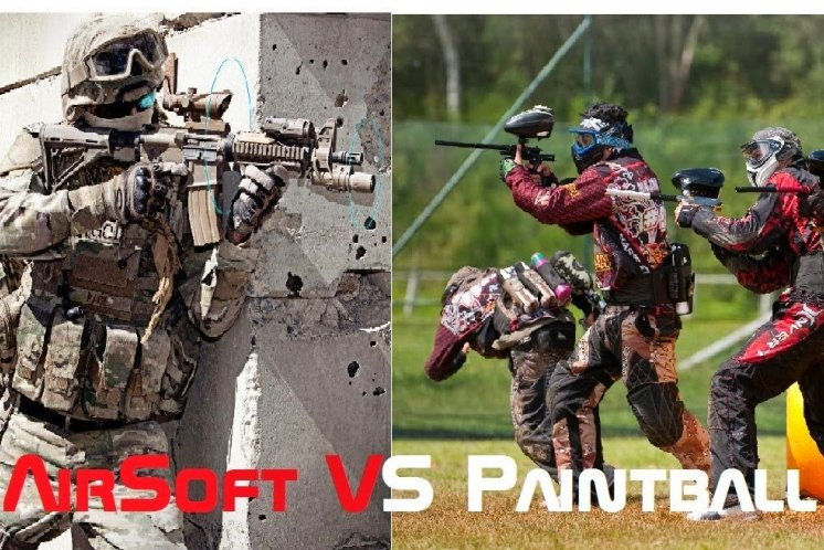 ASG vs Paintball